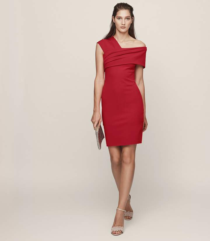 95b293b501e Marie Cowl-Neck Shift Dress