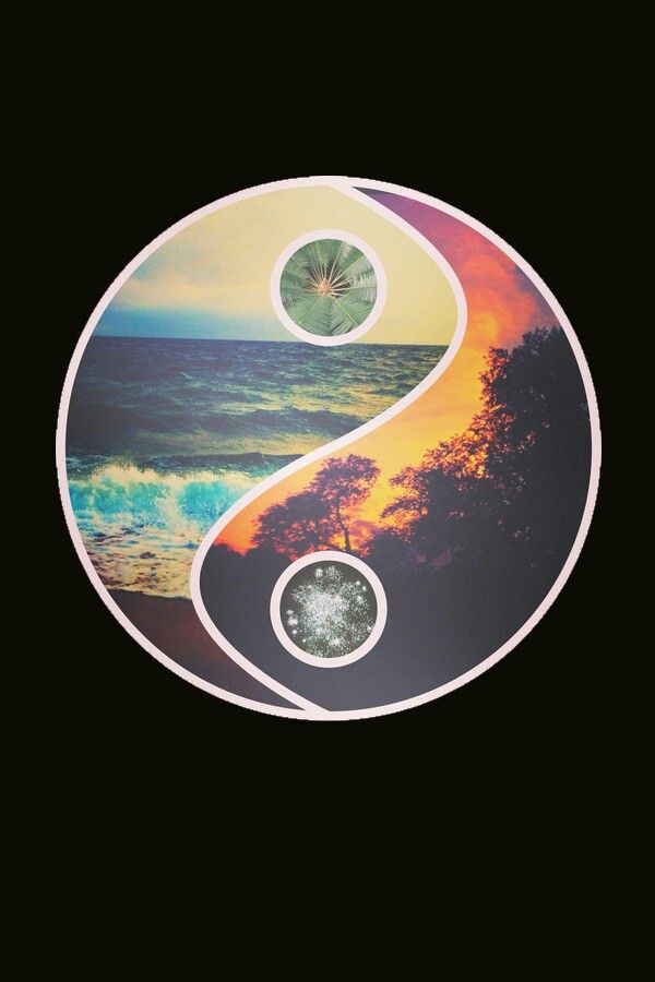background, summer, wallpaper, yin yang, good bad  Iphone wallpapers  Pinterest  Ying yang