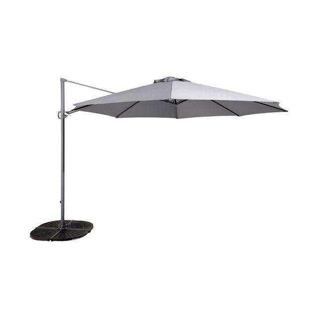 parasol d port mallorca en alu 350 cm gris castorama parasols and awnings. Black Bedroom Furniture Sets. Home Design Ideas