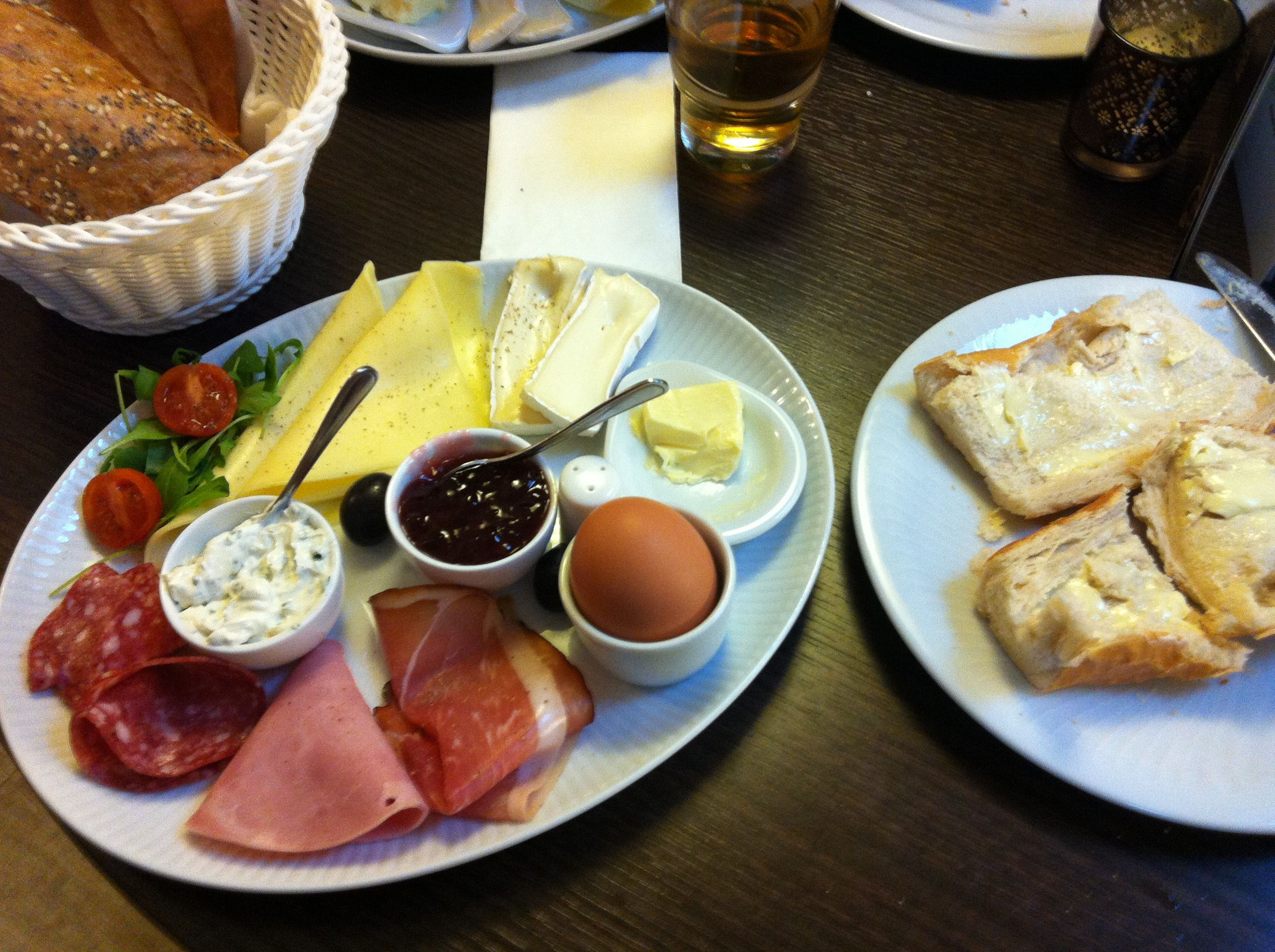 european breakfasts are the best; cold meats, cheeses, tomatoes