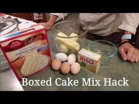 ~Boxed Cake Mix Hack~ better than bakery cake - YouTube   Cakes in 2019   Bakery cakes, Box cake ...