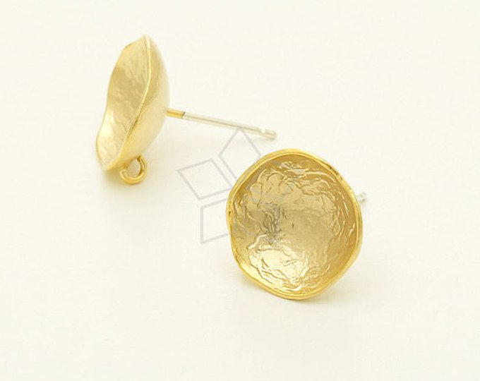 09b29529ba851 SI-740-MG / 2 Pcs - New Bowl Flower Studs Earrings (Large), Matte ...