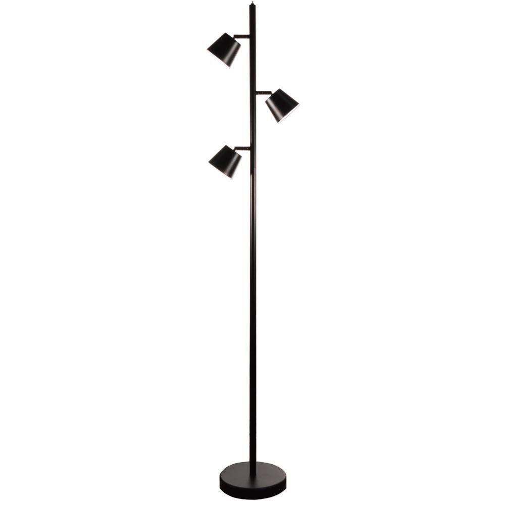 Dainolite 3 Light Led Floor Lamp In Matte Black 625ledf Bk Led Floor Lamp Tree Floor Lamp
