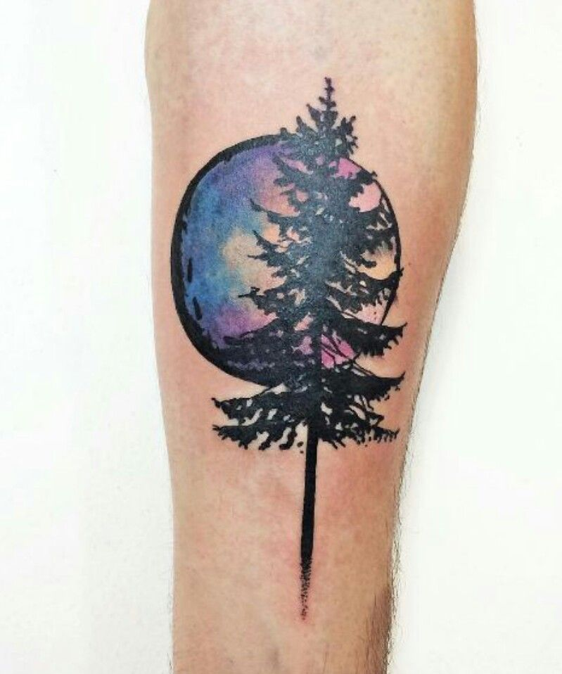 Pin By Chrissy Nagel On Tattoos Pine Tree Tattoo Watercolor