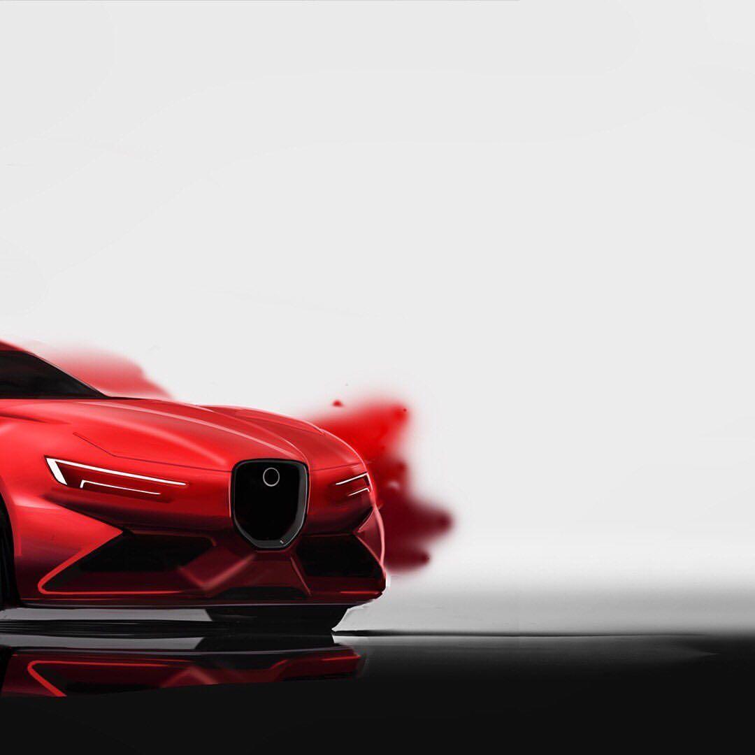 "Alex on Instagram: ""Sports car sketch #sketch #productdesign #jaguar #automotivedesign #simkom #cliffdesign #cardesign #supercarspotting #sprayart #porsche…"""