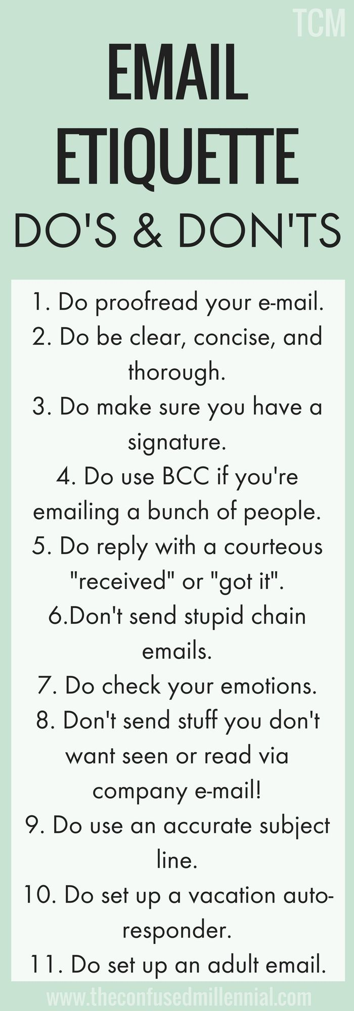 email tips for work