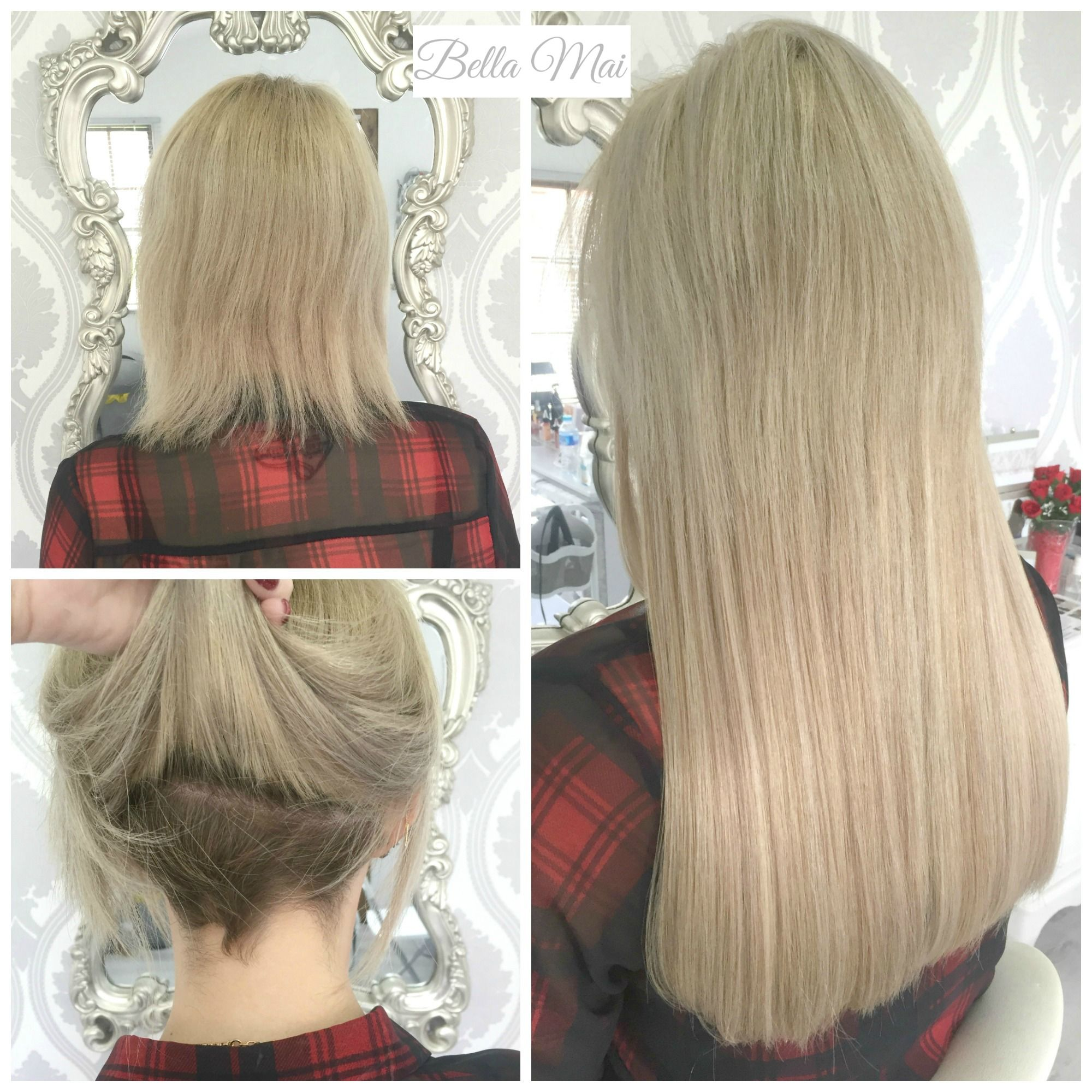 Nano Ring Extensions......Before and After Hair