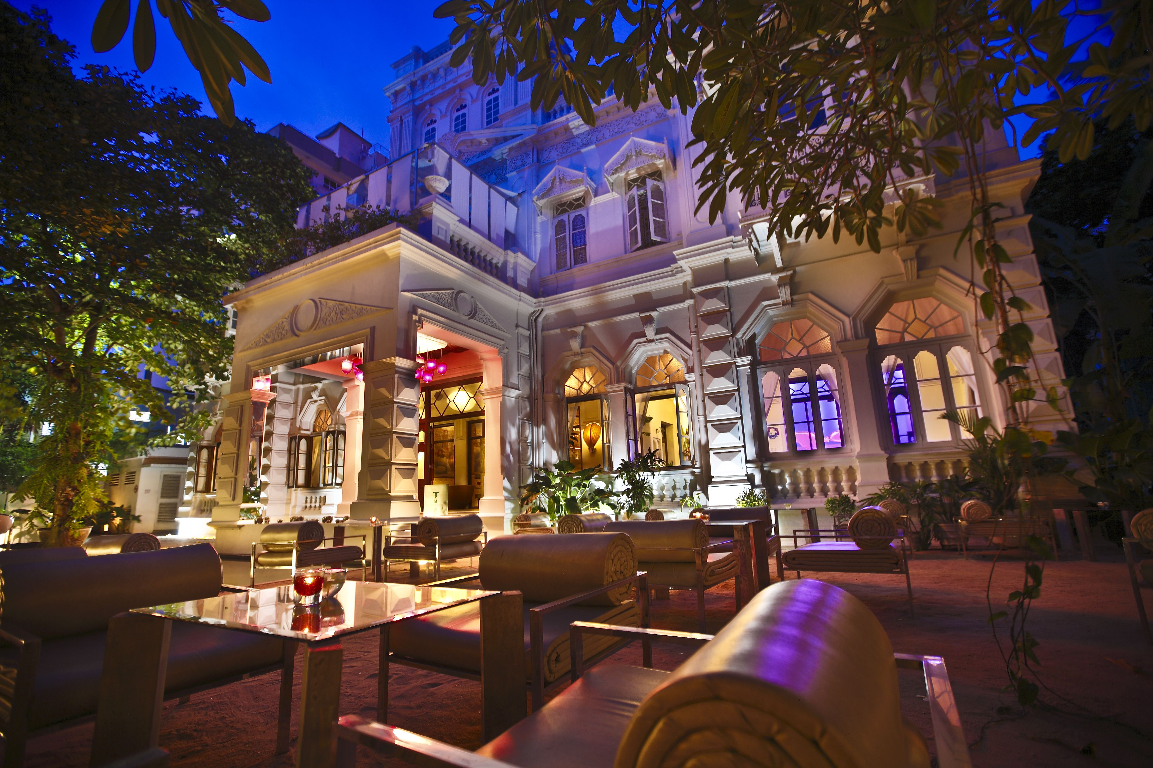 A night view of the gorgeous Mansion
