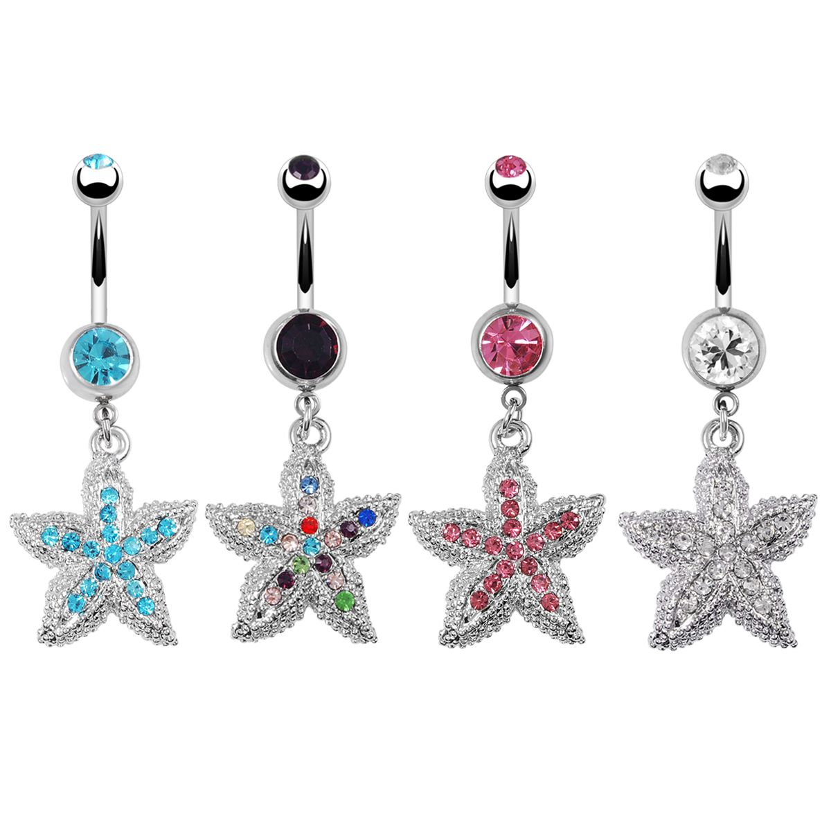 Navel piercing ideas  Starfish belly ring  perchings  Pinterest  Starfish Ring and