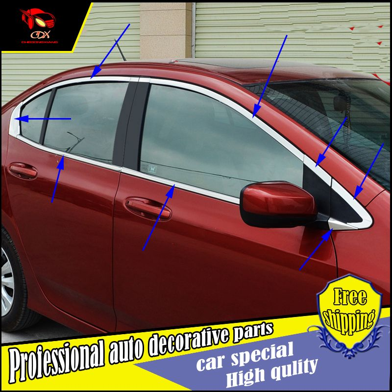 Car Styling Stainless Steel Window Trim Stick For Honda City