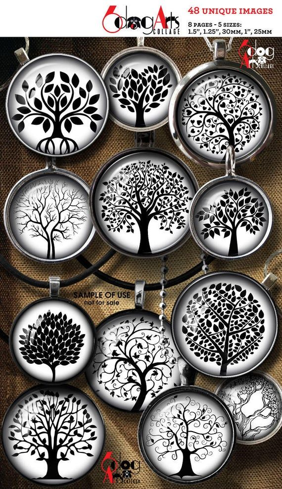 Tree of Life - digital collage sheets - printable images for you to download, print as many times as you want, and use