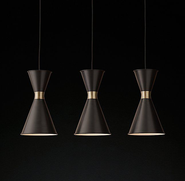 triple pendant lighting. RH Modern\u0027s Thomsen Triple Pendant:Drawing On Danish Modern Design, This Fixture Features A Trio Of Hourglass Pendants Suspended From Rectangular Ceiling Pendant Lighting