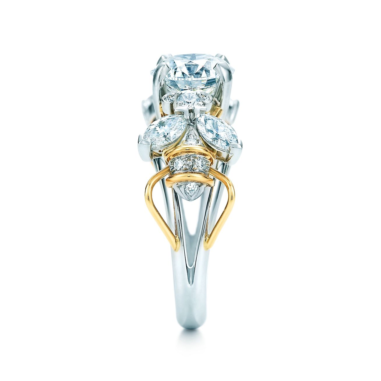 618f59d7f Schlumberger® Two Bees Engagement Ring in Platinum & 18k Gold | Here ...