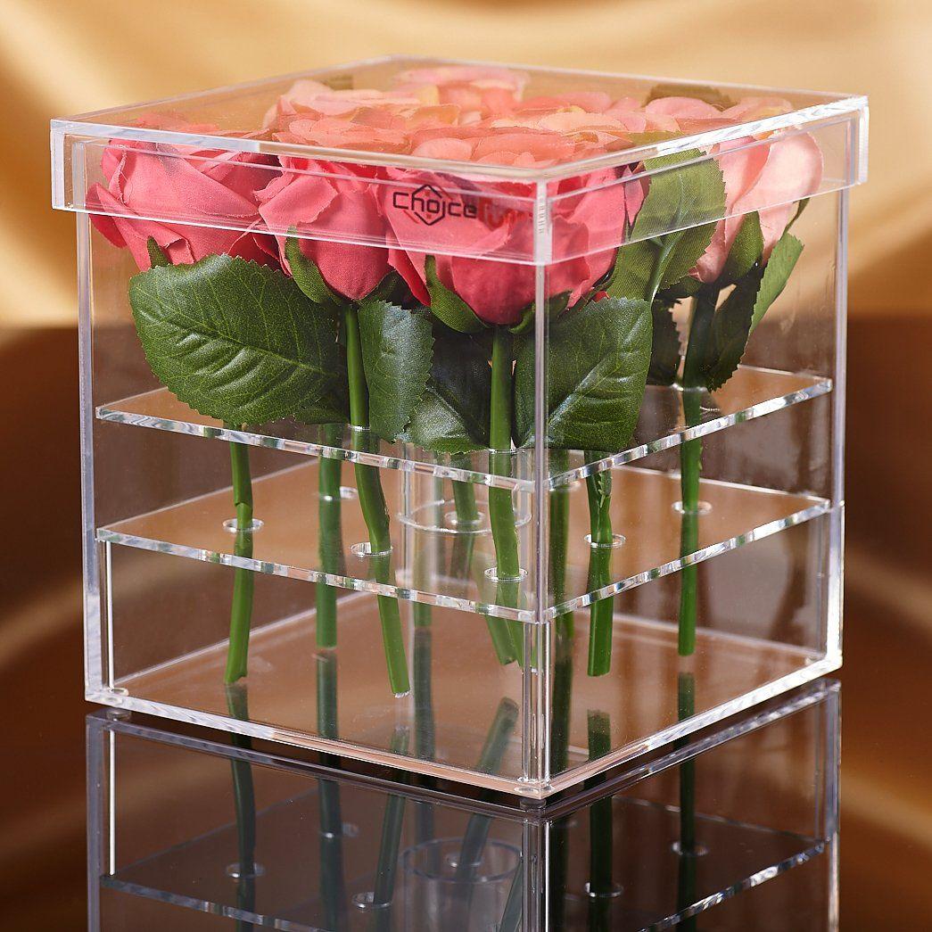 Choice fun acrylic flower box vase for wedding and home 16 hole 2 choice fun acrylic flower box vase for wedding and home 16 hole 2 tiers this reviewsmspy