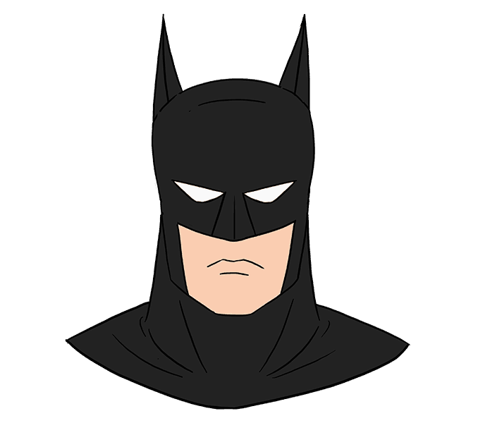 How To Draw Batman S Head Easy Drawing Guides Batman Drawing Batman Drawing Easy Batman Painting