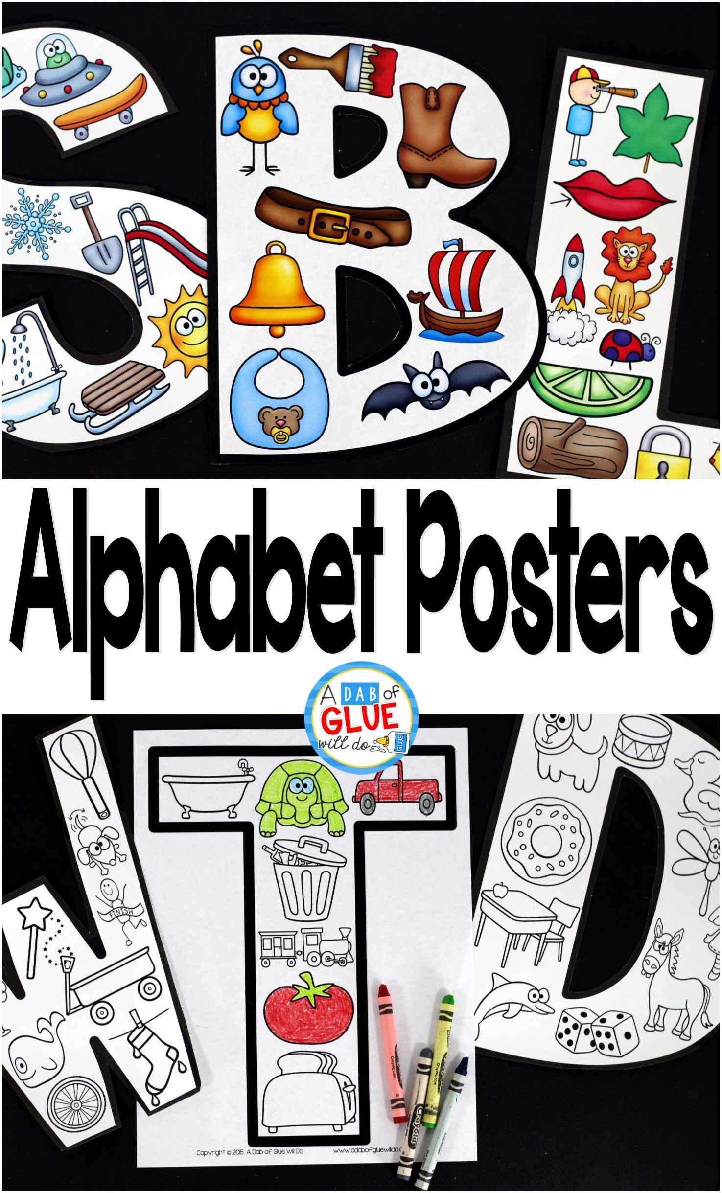 Your Preschoolers Are Going To LOVE Alphabet Posters These A Great