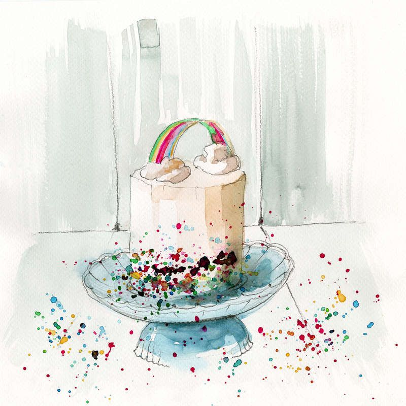 Colour up your day by blule rainbow cake cake art cake