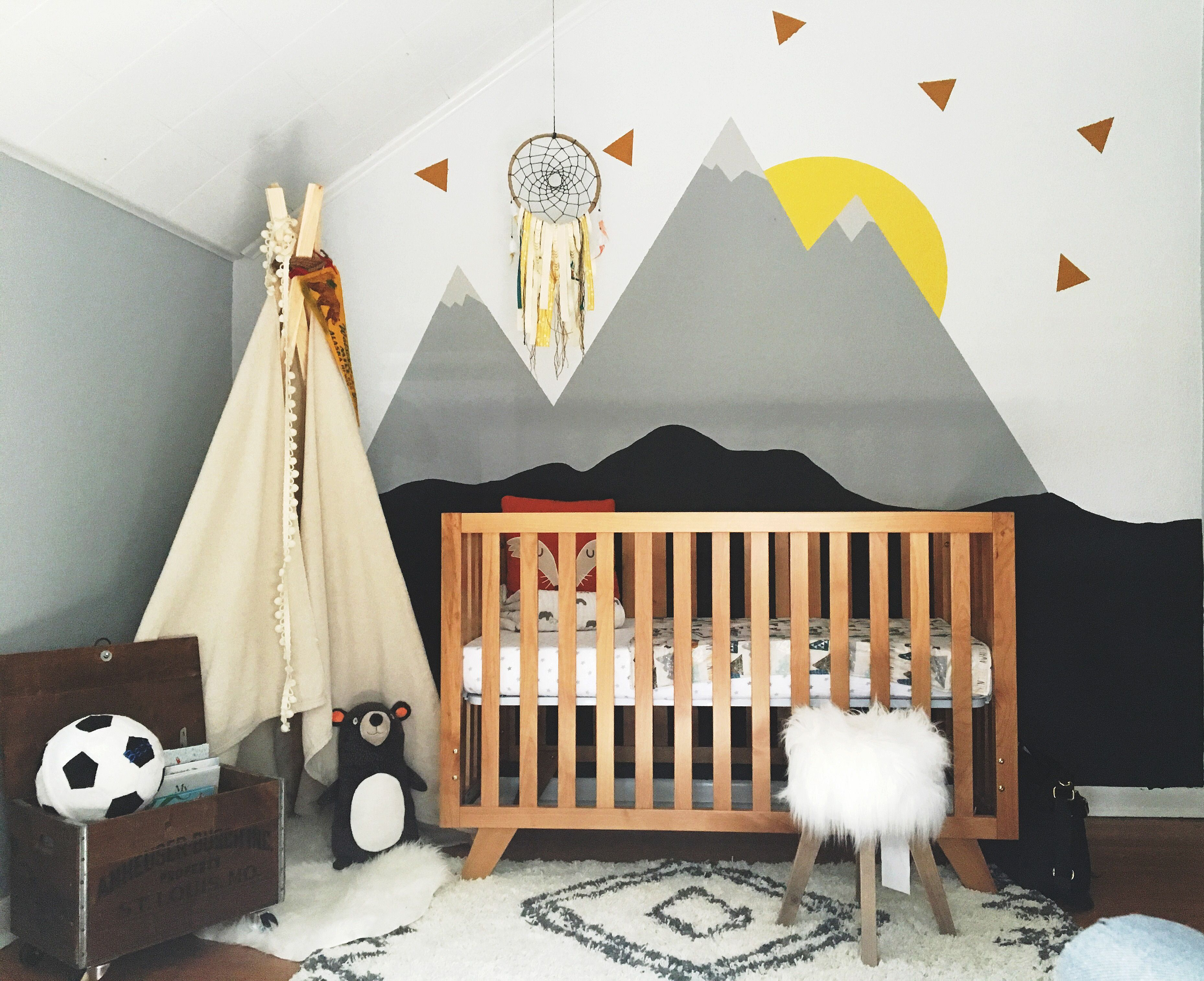 Not The Nursery But The Stylized Mountain Theme Nursery Bedroom