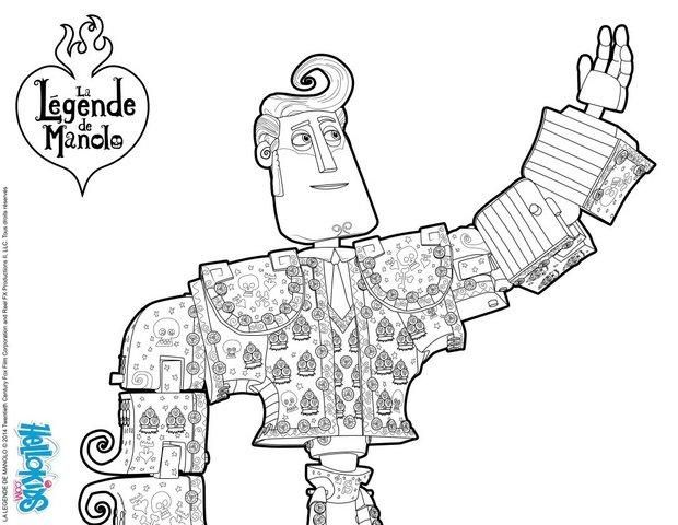 - MOVIE Coloring Pages - Manolo - Book Of Life Movie Book Of Life Movie,  Book Of Life, Coloring Pages