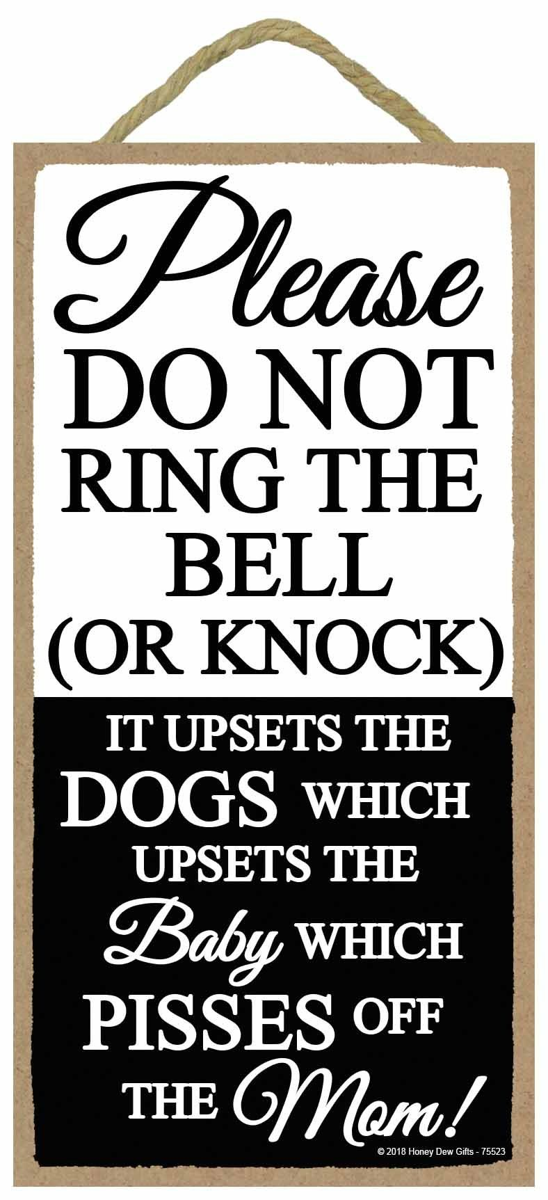 Funny Door Signs Please Do Not Ring The Bell Or Knock 5 X 10 Inch Hanging Wall Art Do Not Knock Sign Click Image For Funny Door Signs Door Signs Knock Knock