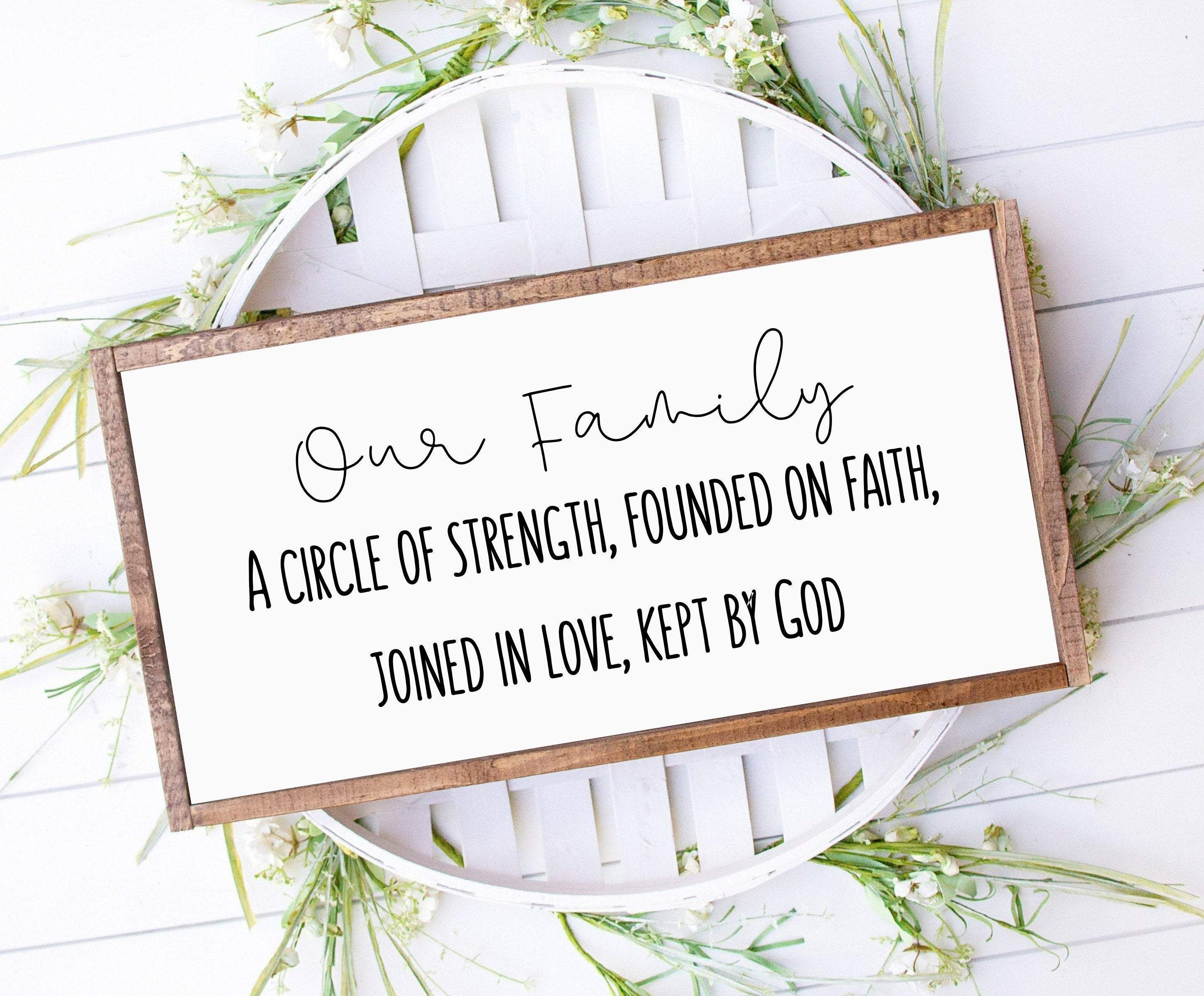 Photo of Our family Signs Farmhouse Wood Signs, Farmhouse style wood Signs with Bible verse – 20×30