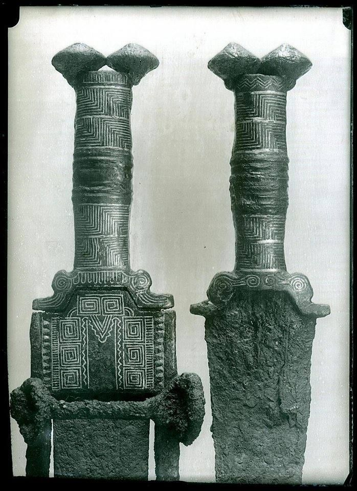 Swords (gladii) with antennae pommels from the necropolis of Osera (Ávila), Spain.