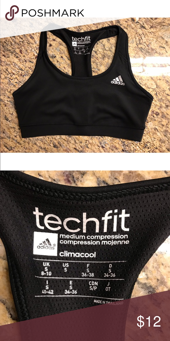 24a049e8bb4b3 Adidas Techfit Sports Bra Hardly worn. Looks brand new! Size small adidas  Intimates   Sleepwear Bras