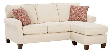 Nikki -Designer Style- Apartment Size Sleeper Sectional Couch With Chaise