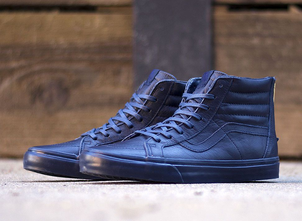 48a824dbf0 BRAND NEW Vans California Sk8-Hi Zip Boot Leather Dress Blues Size12 ...