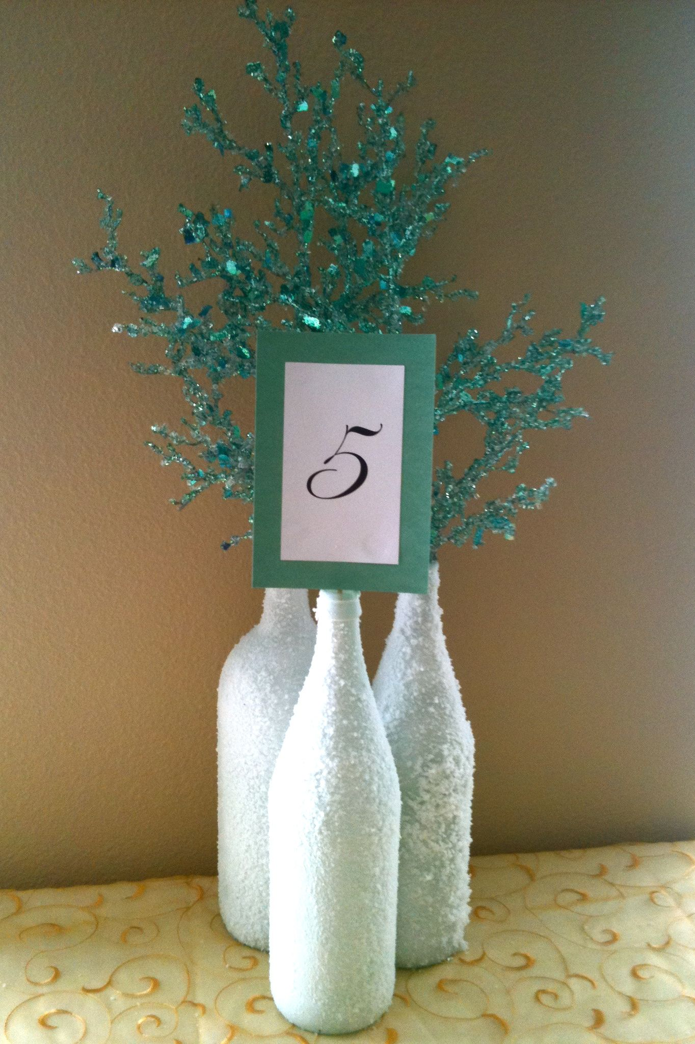 Diy winter inspired wedding centerpieces could you cover the