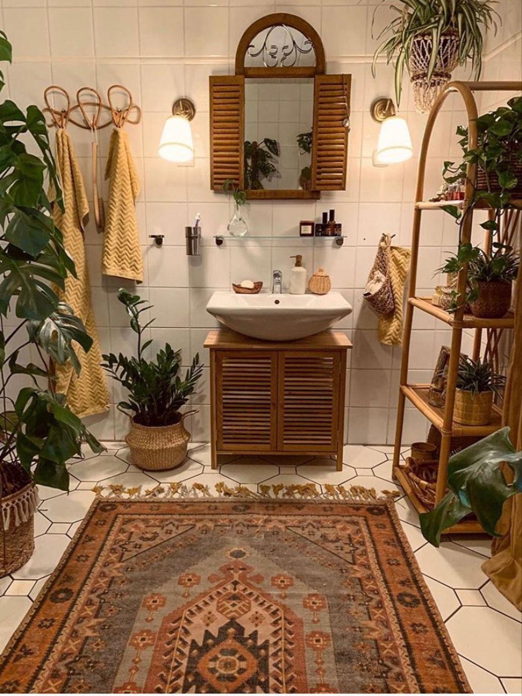 Interior Decor Living Room Decor Room Decor Patio Decor Boho Decor In 2021 Home Decor Inspiration Boho Bathroom Decor Boho Bathroom Home decor dream decorate small bathroom