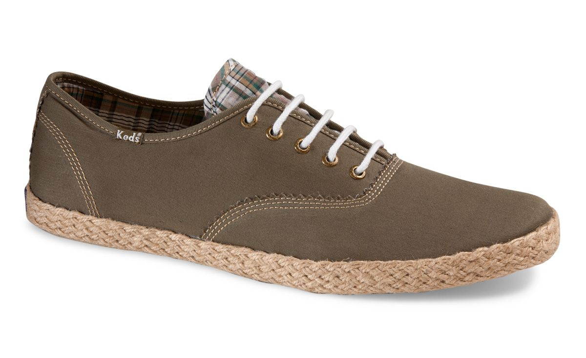 413d3a3621a8e Keds Shoes Official Site - Champion Army Twill Jute Keds Champion