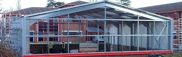 steel-framed-buildings on sale online   Construction   Pinterest ...