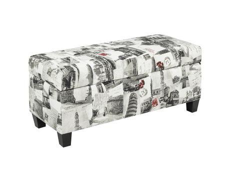 Super Brassex Inc Brassex Storage Ottoman Printed Fabric Light Short Links Chair Design For Home Short Linksinfo
