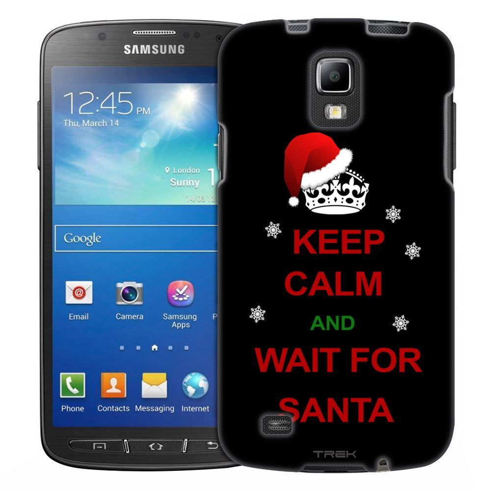 Samsung Galaxy S4 Active KEEP CALM and Trust God on White Slim Case