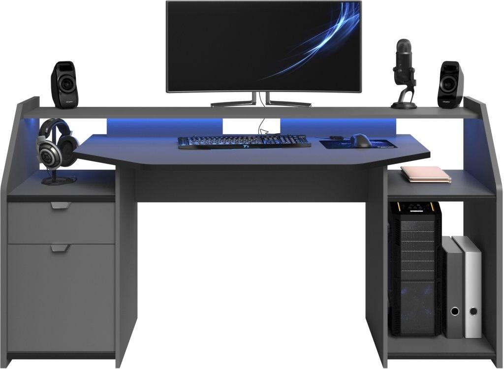 Schreibtisch Set Up 1 Grau Schwarz Luxus Office Desk Desk Und