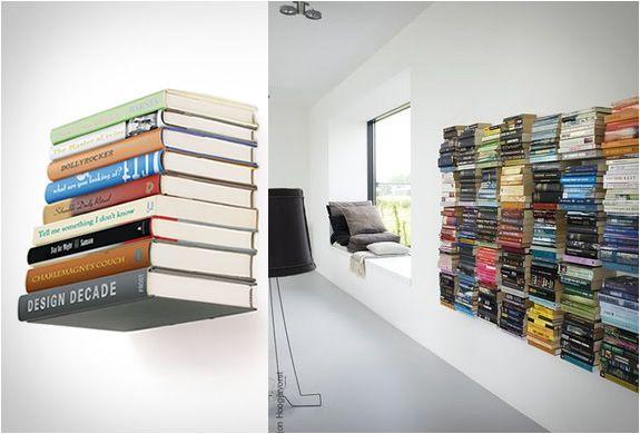 Conceal Boekenplank Umbra : Conceal shelf invisible bookshelf for the home pinterest