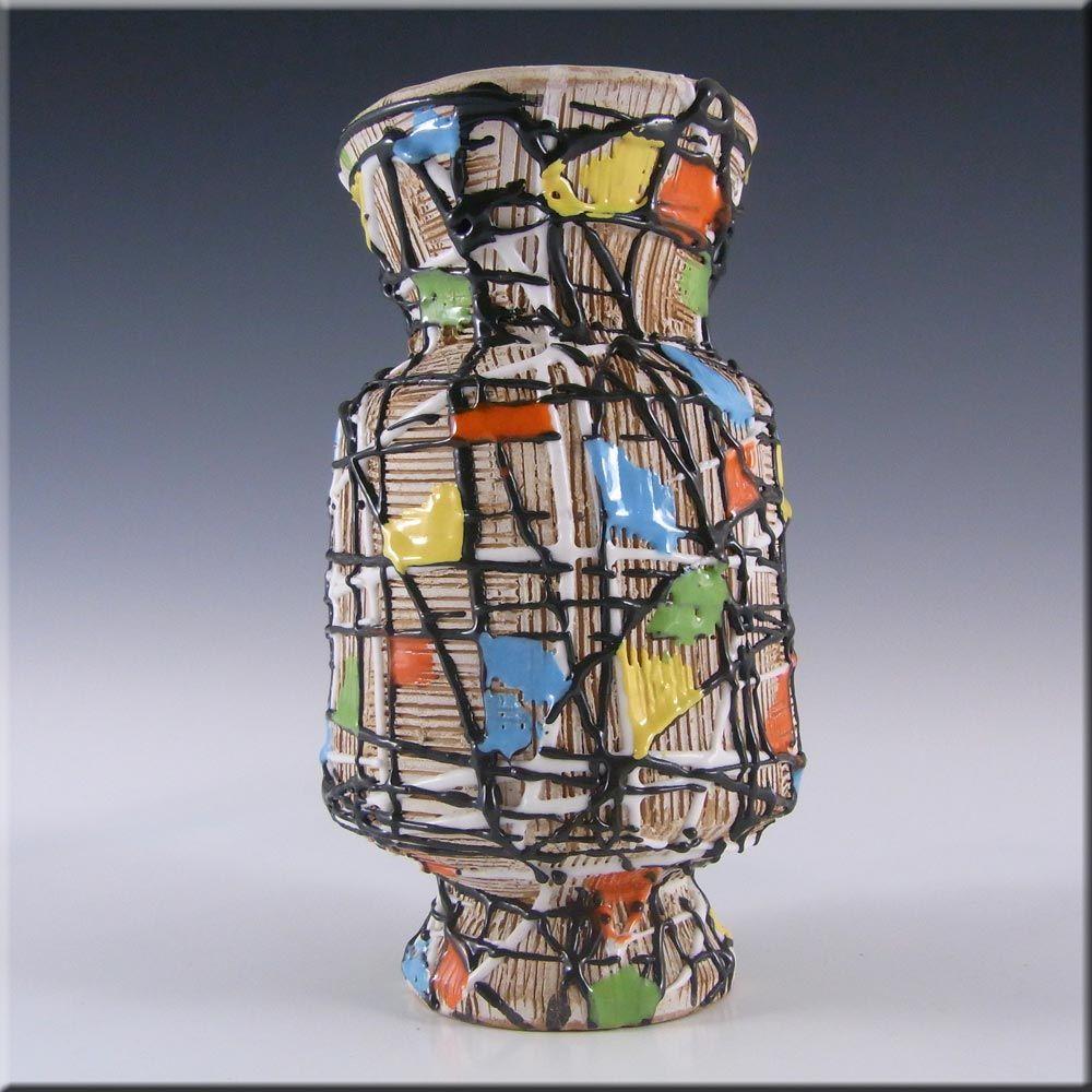Fratelli Fanciullacci Italian Ceramic Pottery Textured Vase