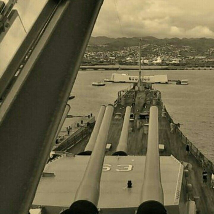Captured This On The USS Missouri Overlooking The Arizona