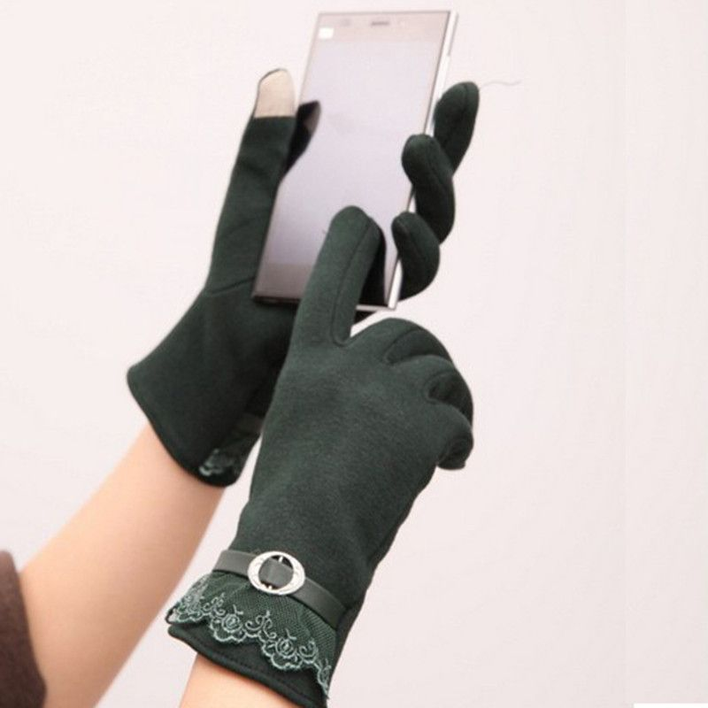 Fashion Ladies Screen Gloves Smartphone Texting Stretch Adult Winter Warm 5 Color