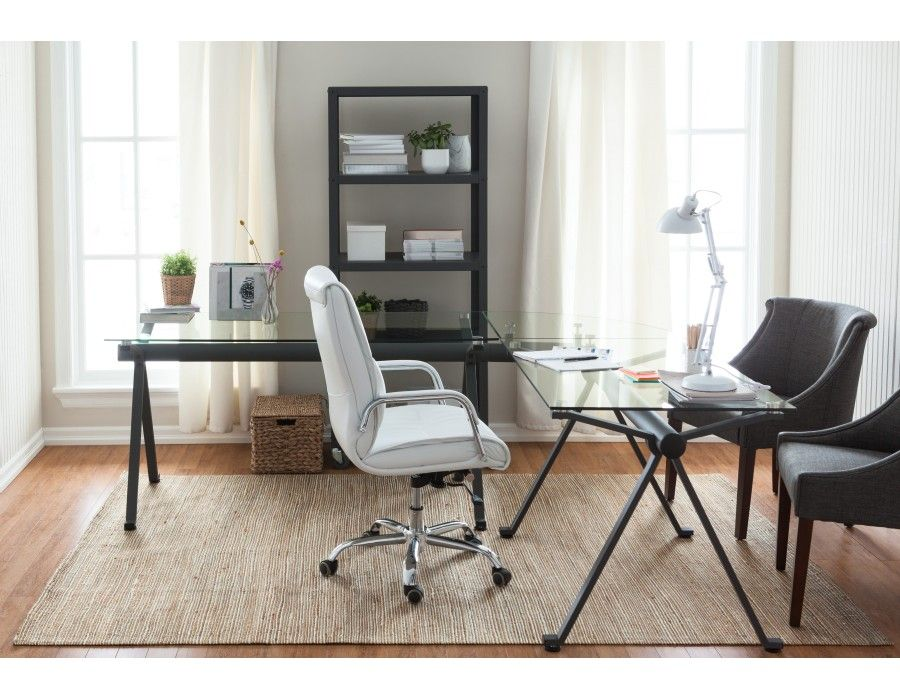 tempered glass office desk. STUDIO Iron And Tempered Glass Desk Corner. To Be Used With Studio And/or Desk. Office O