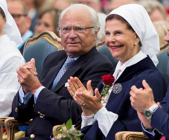 King Carl Gustaf of Sweden and Queen Silvia of Sweden attend a concert at the 39th birthday celebrations for Crown Princess Victoria on July 14 2016...