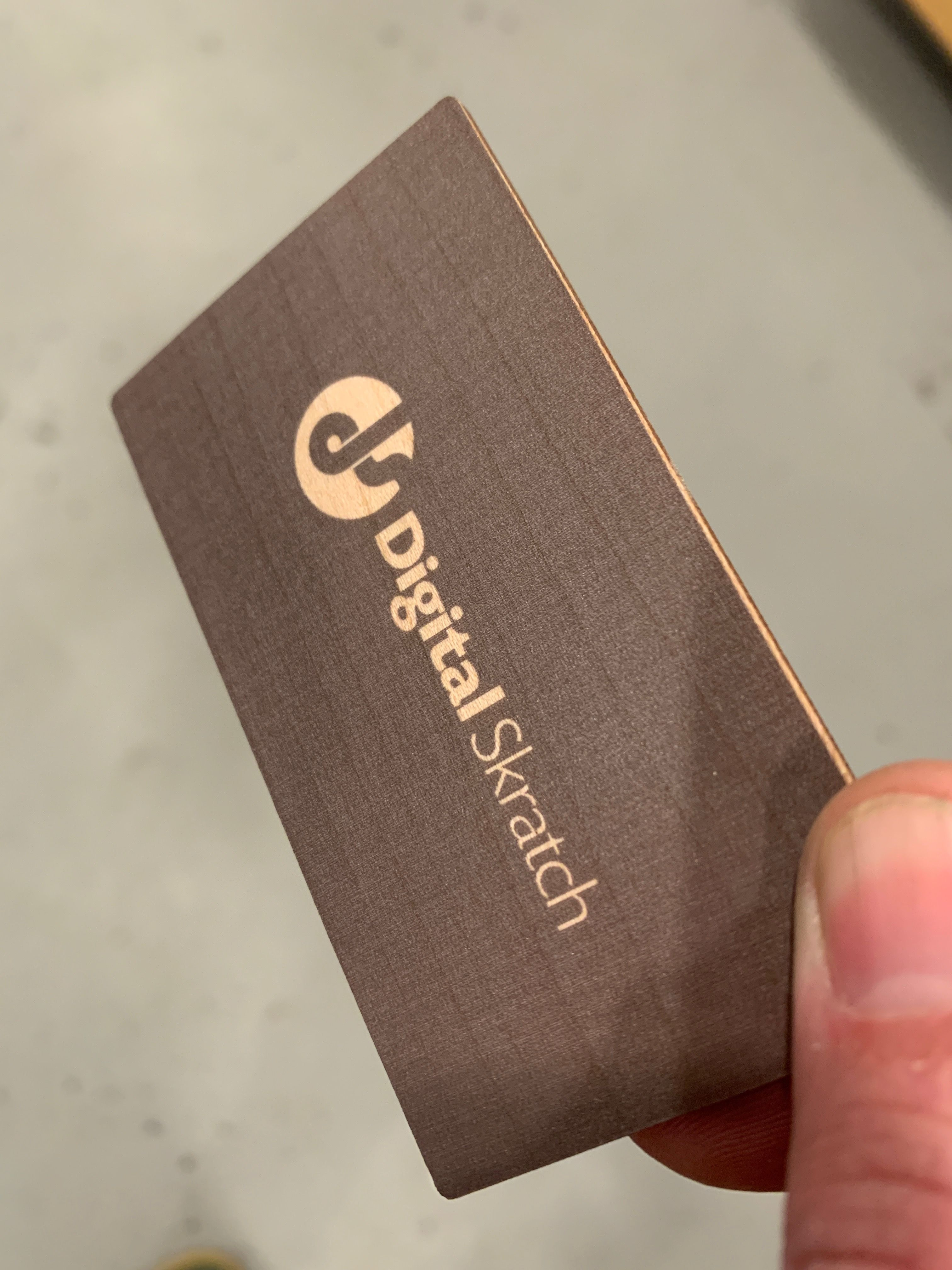 Tested Out A Few Things On The Uv Printer Set The Opacity To 50 To Allow Some Of The W Wood Business Cards Laser Engraved Business Cards Metal Business Cards