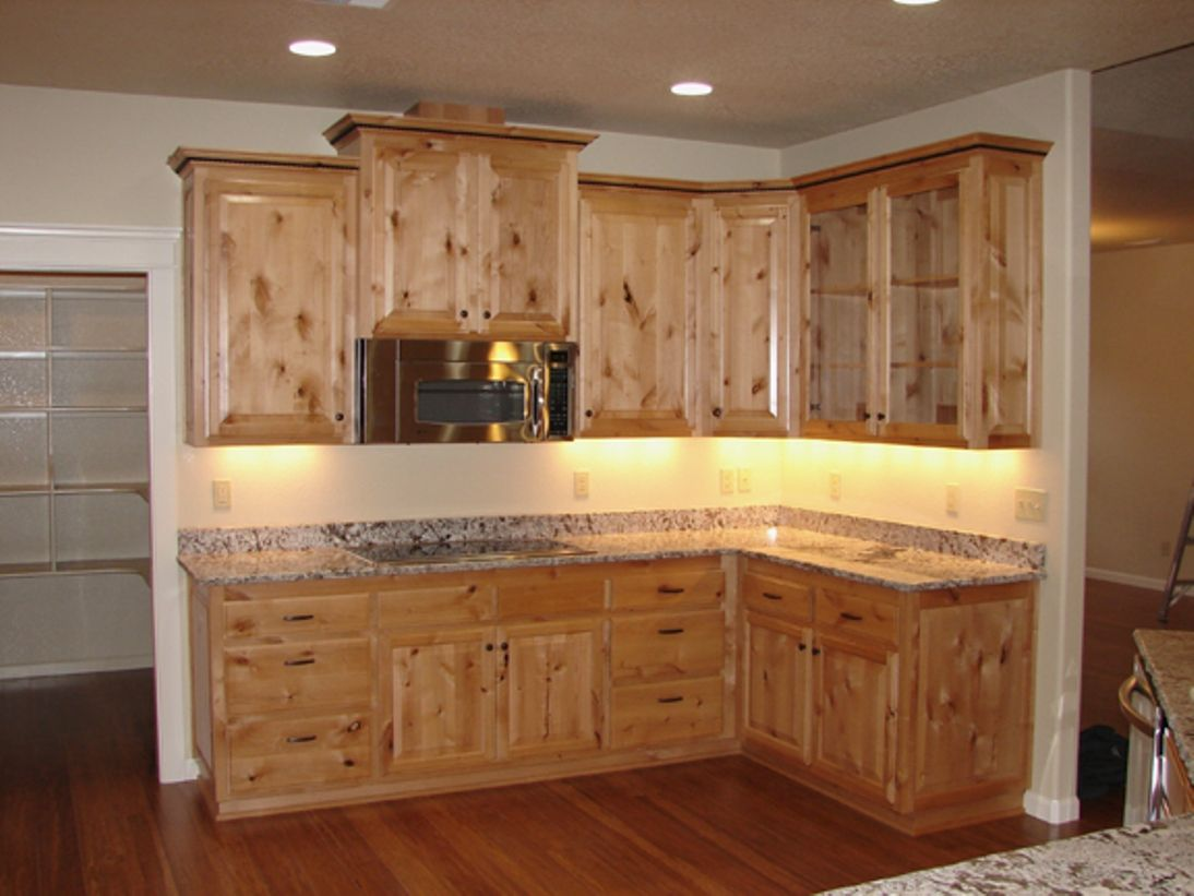 Knotty Alder Cabinets Cost Kitchen Unfinished Kitchen