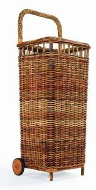 Large French Market Shopping Cart Natural Wicker Wish