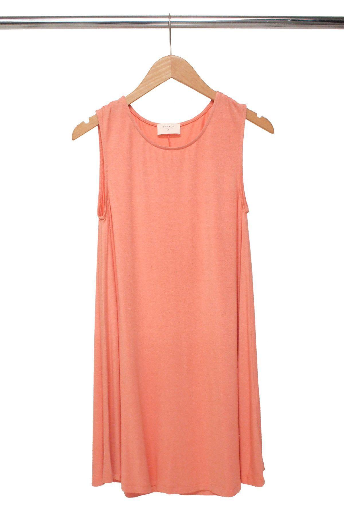 Constance Peach Trapeze Dress
