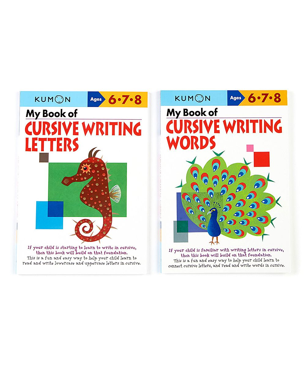 My Book of Cursive Writing' Workbooks - Set of Two | Cursive and ...