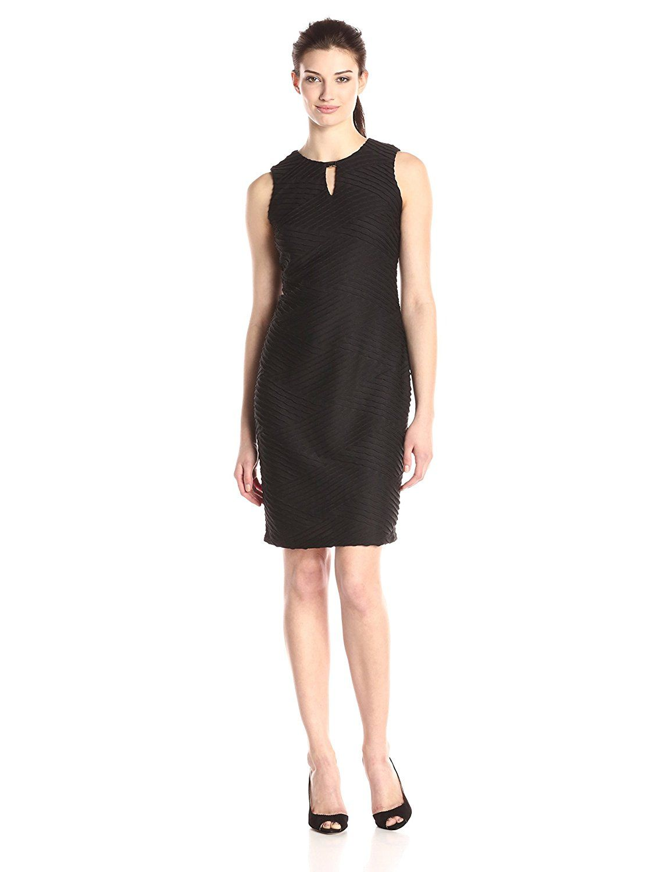 Calvin Klein Women\'s Printed Roll Sleeve Dress, Black/Adr... https ...
