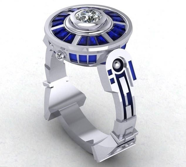 That S One Cly R2d2 Engagement Ring Hey At Least They Are Shires My Favourite Stone Besides Lapis