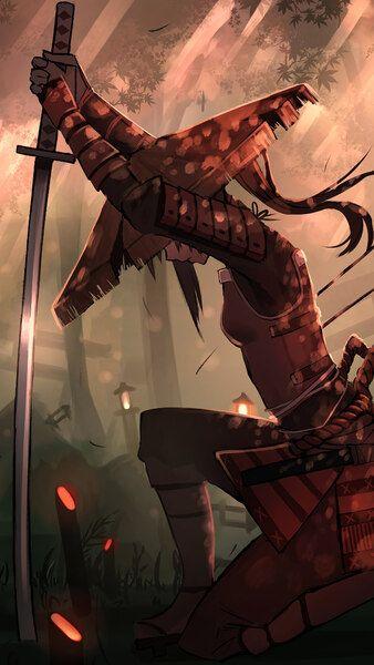 Samurai Girl Katana Fantasy Warrior 4K HD Mobile ...